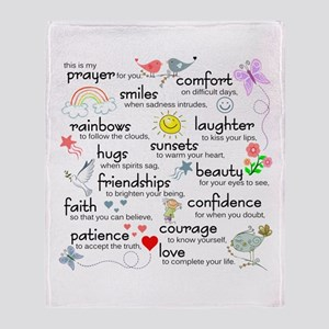My Prayer For You Throw Blanket